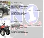 ATV 300cc, 400cc